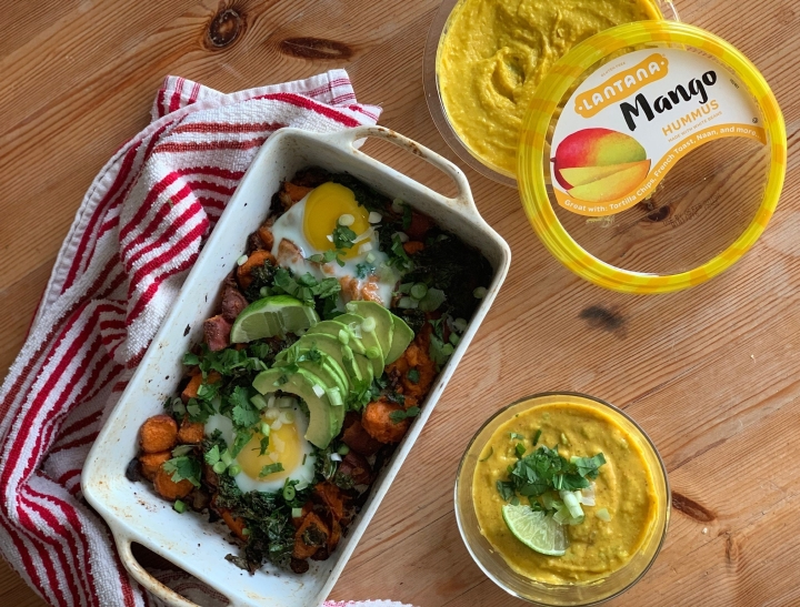 Sweet Potato Hash with Spicy Mango Avocado Sauce